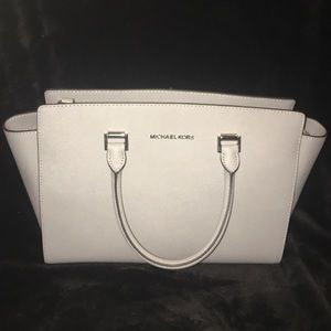 Michael Kors Pearl Gray Satchel New Leather